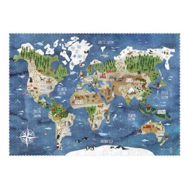 Londji - Puzzle Mapa Odkryj Świat