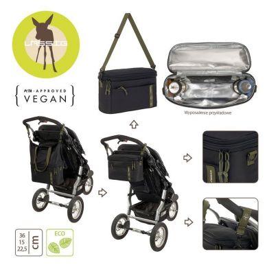 Lassig - Casual Label Torba Termiczna do Wózka z Możliwością Powiększenia 2w1 Black