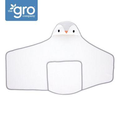 Gro Company - Otulacz-ręcznik Groswaddledry Poppy the Penguin 0-6 miesięcy