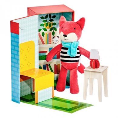 Petit Collage - Przytulanka w Pudełku Lisek 3+