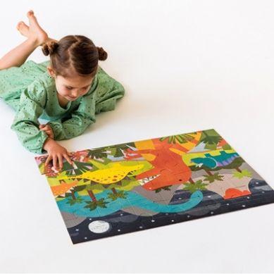 Petit Collage - Puzzle Podłogowe Dinozaur