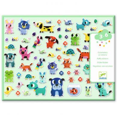 Djeco - Zestaw 100 Wypukłych Naklejek Mali Przyjaciele