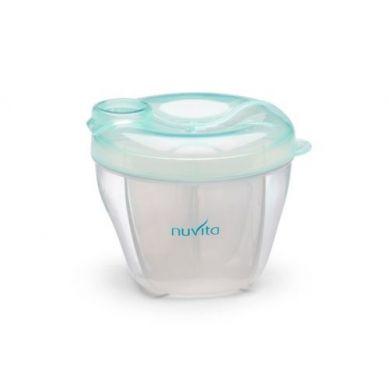 Nuvita - Pojemnik na Mleko 4 Przegródki Pastel Green