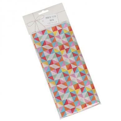 Rex - Zestaw 10 Bibuł Ozdobnych Multicolour Geometric