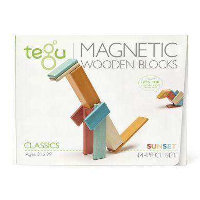 Tegu - Drewniane Klocki Magnetyczne Classics Zestaw Sunset