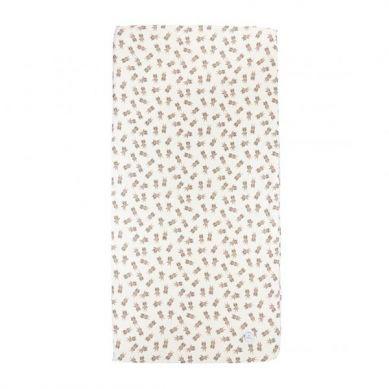 Maki Mon Ami - Bawełniane Prześcieradło z Gumką 60x120 cm Miś Dawid Misie