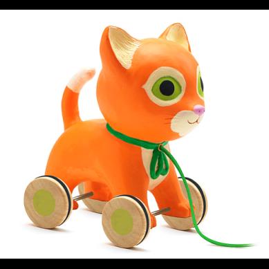 Djeco - Zabawka do Ciągnięcia Kotek Catty