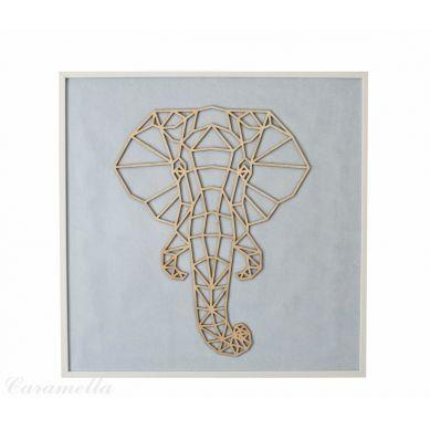 Caramella - Obraz Błękitny ze Słoniem