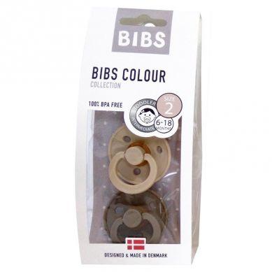 BIBS - Smoczek Uspokajający Hevea 2-pack M Vanilla & Dark Oak
