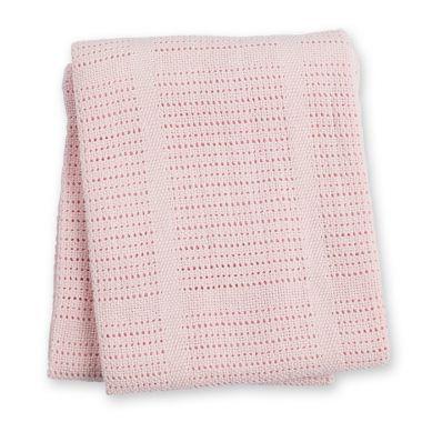 Lulujo - Bawełniany Kocyk Tkany Pink