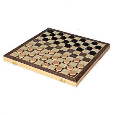Egmont Toys - Drewniane Gry Logiczne 2w1 Warcaby i Backgammon 3+