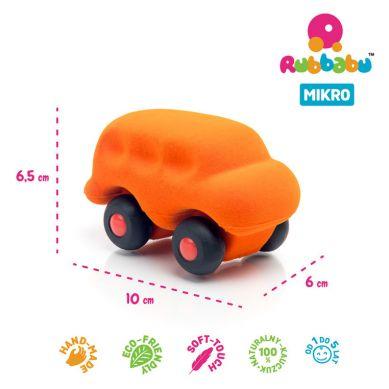 Rubbabu - Autobus Sensoryczny Pomarańczowy Mikro