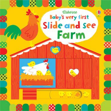 Wydawnictwo Usborne Publishing - Baby's Very First Slide And See Farm