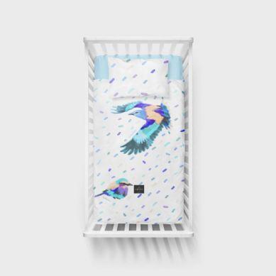 Lullalove - Bawełniana Pościel 100x135 cm Ptaki Kraska