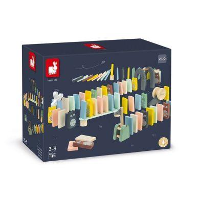Janod - Klocki Domino 100 Elementów Sweet Cocoon