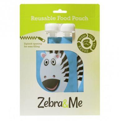 Zebra & Me - Saszetki do Karmienia Wielorazowe Zebra 2szt.