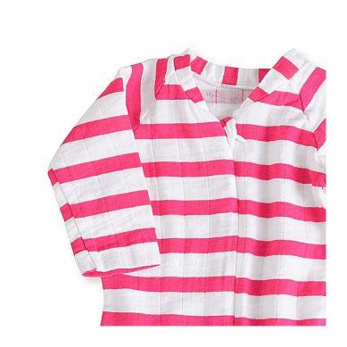 aden + anais - Pajacyk Zip Shocking Pink 6-9m