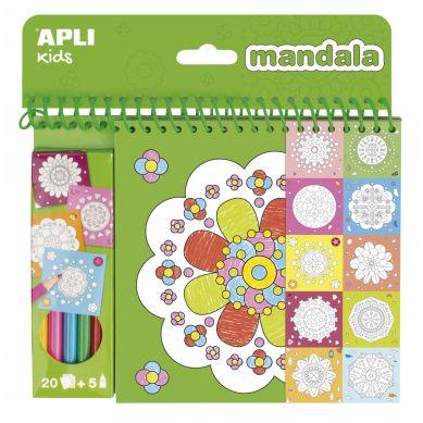 Apli Kids - Kolorowanka z Kredkami Mandala