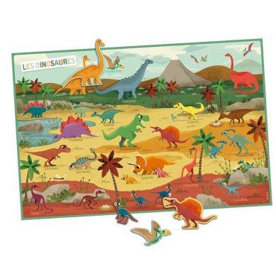 Auzou - Zestaw Magnesów 35 szt. Dinozaury 4+