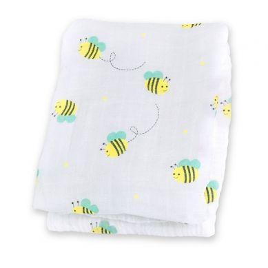 Lulujo - Kocyk Muślinowy Pszczółki