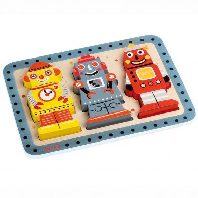 Janod - Układanka 3d Roboty