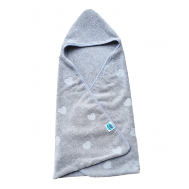 Pink no More - Ręcznik Bawełniany Grey 70x70