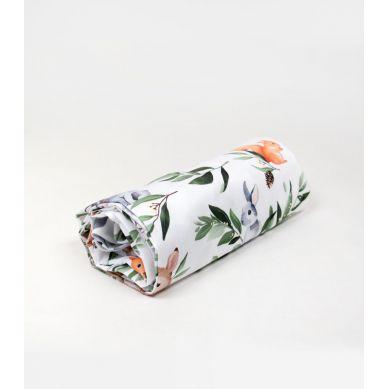Muzpony - Prześcieradło do Łóżeczka Leśne Zwierzątka 120x60cm
