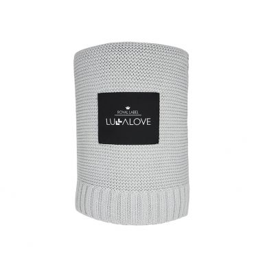 Lullalove - Bambusowy Koc Tkany Szary 120x100