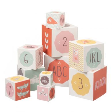 Fresk - Klocki Alfabet i Cyfry Girl 1+