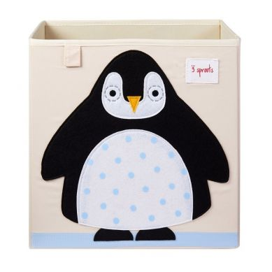 3 Sprouts - Pudełko na Zabawki Pingwin Black