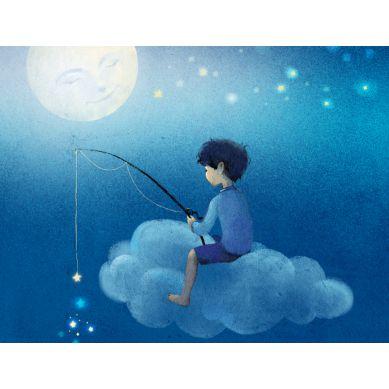 La Millou - Poduszka Big Johnny by Magdalena Różczka Kolekcja Księżycowa Wędkowanie Ecru