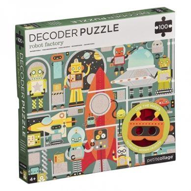 Petit Collage - Puzzle Ukryte Obrazki Robot