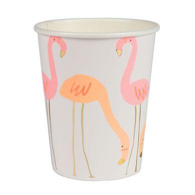 Meri Meri - Zestaw Kubeczków Urodzinowych Flamingo
