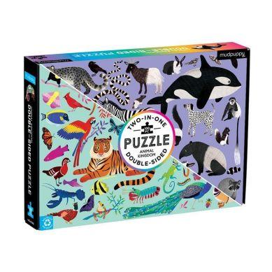 Mudpuppy - Dwustronne Puzzle Królestwo Zwierząt  100 elementów 6+