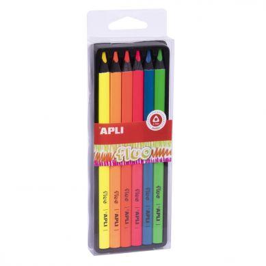 Apli Kids - Kredki Ołówkowe Jumbo Fluo