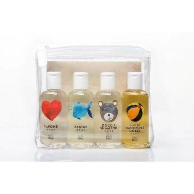 Linea MammaBaby - Zestaw Kosmetyków 4 x 100ml (mydło, płyn do kąpieli, szampon, olejek)