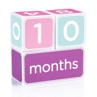 Pearhead - Kostki z Dniami, Tygodniami, Miesiącami i Latami dla Dziewczynki