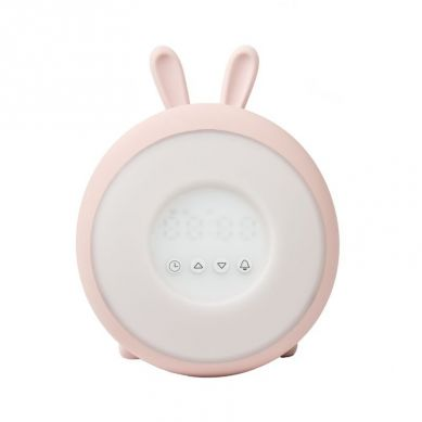 Rabbit&Friends - Lampka/Zegar Budząca Światłem Króliczek Róż