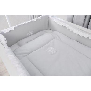 .Caramella - Pościel Niemowlęca z Wypełnieniem 90x73 cm Pure Grey