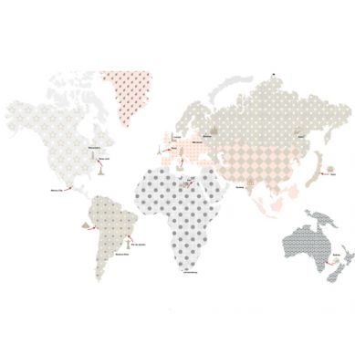Dekornik - Naklejki Ścienne Mapa 1 150x90cm