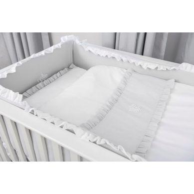Caramella - Pościel Niemowlęca 100x135 cm Pure Grey