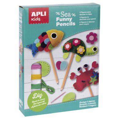 Apli Kids - Zestaw Artystyczny do Szycia Morskie Zwierzęta