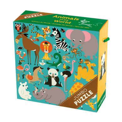 Mudpuppy - Puzzle Jumbo 25 Elementów Zwierzęta Świata