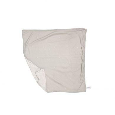 Effiki - Dwustronny, Podwójny Koc Serca Szaro-biały 75x100