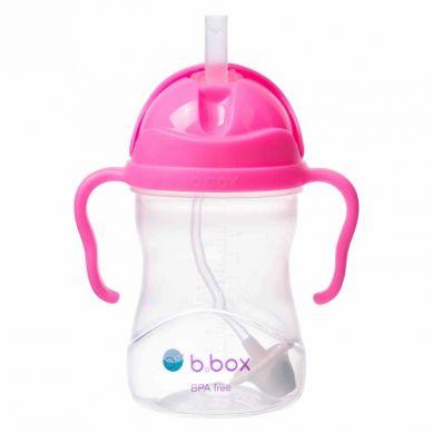 B. Box - Innowacyjny Bidon ze Słomką Różowy Granat