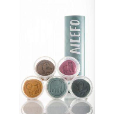 Ailefo - Organiczna Ciastolina 5 Kolorów, 100g 3+