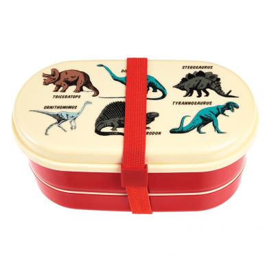 Rex - Dwupoziomowy Lunchbox ze Sztućcami Prehistoric Land