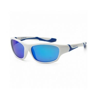 Koolsun - Okularki dla Dzieci Sport White Royal Blue 6-12 lat
