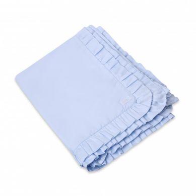 Bonbonkids - Komplet Pościeli z Falbanką Niebieska 100x135cm/40x60cm