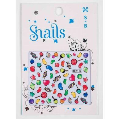 Snails - Naklejki na Paznokcie Candy Crush